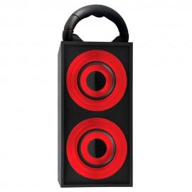 Bocina Portátil Fashion Negro Rojo