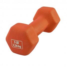 Mancuerna de Neopreno Body Fit 5 Lb Naranja - Envío Gratuito