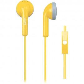 Audífonos Con Micrófono COBY Amarillo CVE 109 YLW