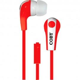 Audífonos Internos Con Micrófono Coby Rojo CVE 113 RED