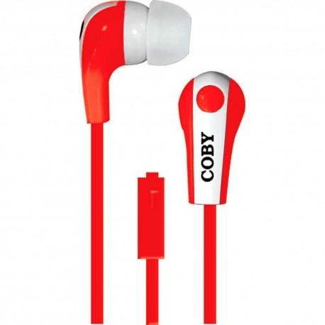 Audífonos Internos Con Micrófono Coby Rojo CVE 113 RED - Envío Gratuito