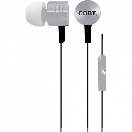 Audífonos Internos Metallic Stereo Coby Plata CVE 106 SLV - Envío Gratuito