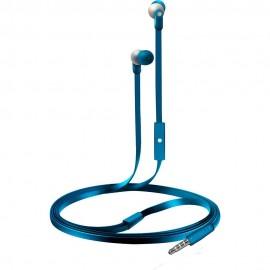 Audífonos Internos Con Micrófono Coby Azul CVE 110BL