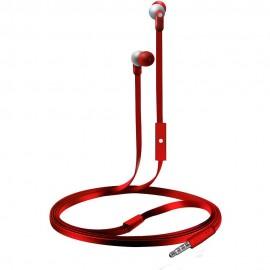 Audífonos Internos Con Micrófono Coby Rojo CVE 110RD