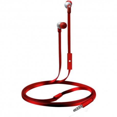 Audífonos Internos Con Micrófono Coby Rojo CVE 110RD - Envío Gratuito