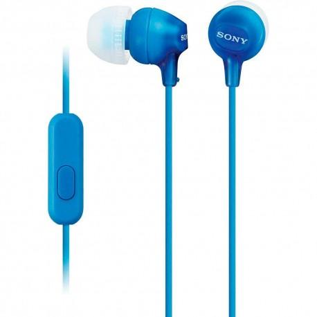 Audífono Interno Sony Azul MDR EX15AP L - Envío Gratuito