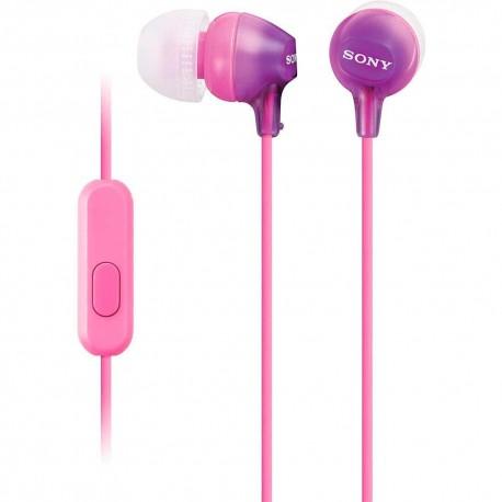 Audífono Interno Sony Violeta MDR EX15AP V - Envío Gratuito