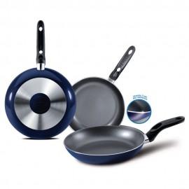 Set de Sartenes Ekco 20 24 30 cm 3 pzs Azul Marino - Envío Gratuito