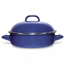 Arrocera de Acero Vitrificado Vasconia 28 cm Azul - Envío Gratuito