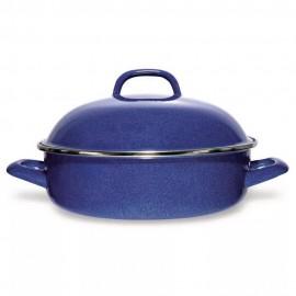 Arrocera de Acero Vitrificado Vasconia 24 cm Azul - Envío Gratuito