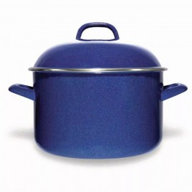Olla de Acero Vitrificado Vasconia 24 cm Azul - Envío Gratuito