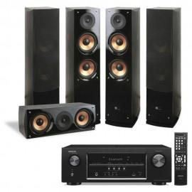 Teatro en Casa Pure Acoustics & Denon AVRS510BT - Negro