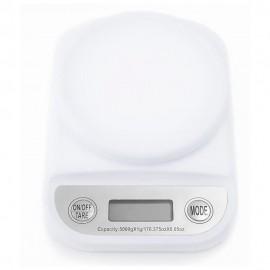 Silverline Báscula para Cocina 5 Kg Blanco - Envío Gratuito