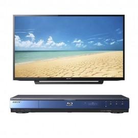 Pantalla LED Sony 40 Pulgadas 40R370C más Blu-ray Sony BDP-S350