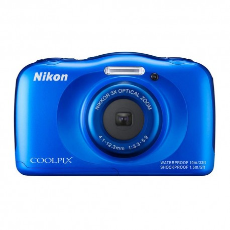 Nikon Cámara Acuática Coolpix S33 Azul - Envío Gratuito