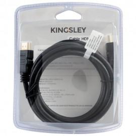 Cable HDMI Kingsley 2 m Negro - Envío Gratuito
