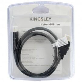 Cable HDMI Kingsley 1 m Negro - Envío Gratuito