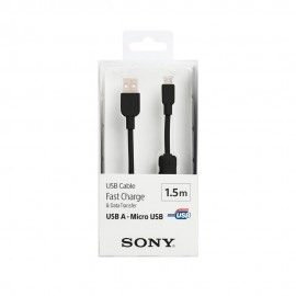 Sony Cable USB a MicroUSB 1.5m Negro