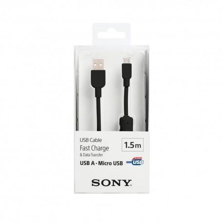Sony Cable USB a MicroUSB 1.5m Negro - Envío Gratuito