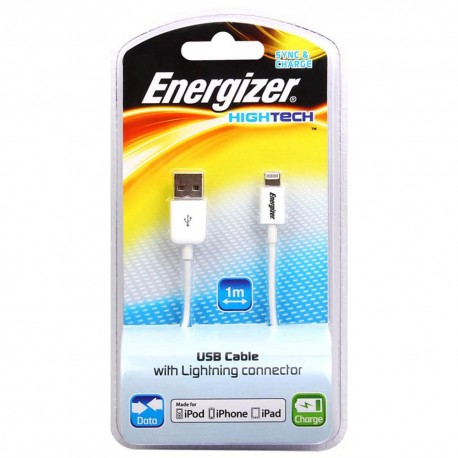 Energizer Cable Hightech Blanco - Envío Gratuito