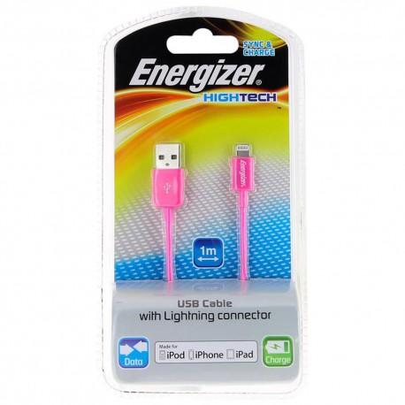 Energizer Cable Lightning Hightech Rosa - Envío Gratuito