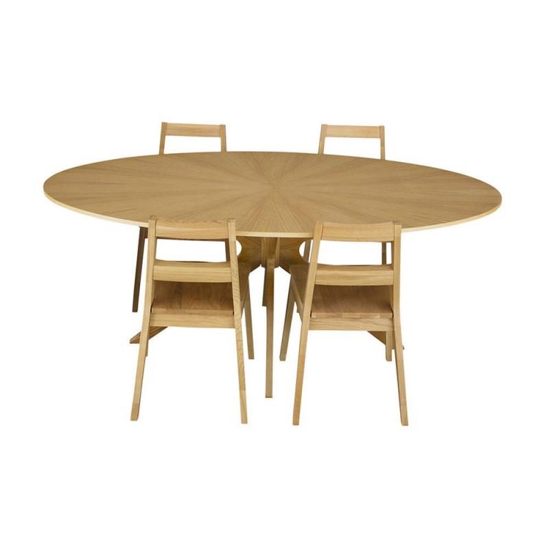 Comedor sylku luna 4 sillas madera for Comedor 4 sillas madera
