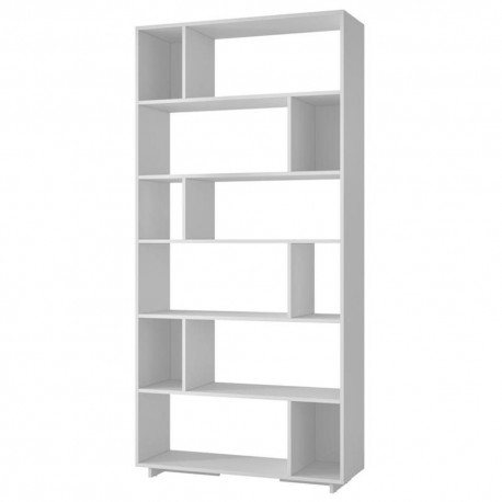 Potenzzo Librero Alto Blanco - Envío Gratuito