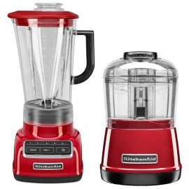 Kitchen Aid Combo: Licuadora 5V + Chopper 2V – Plata