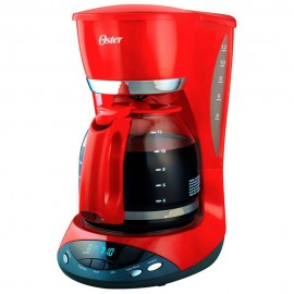 Oster Cafetera 12 tazas Rojo