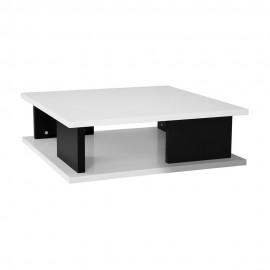 Mesa de Centro Sylku Blanco con Negro - Envío Gratuito