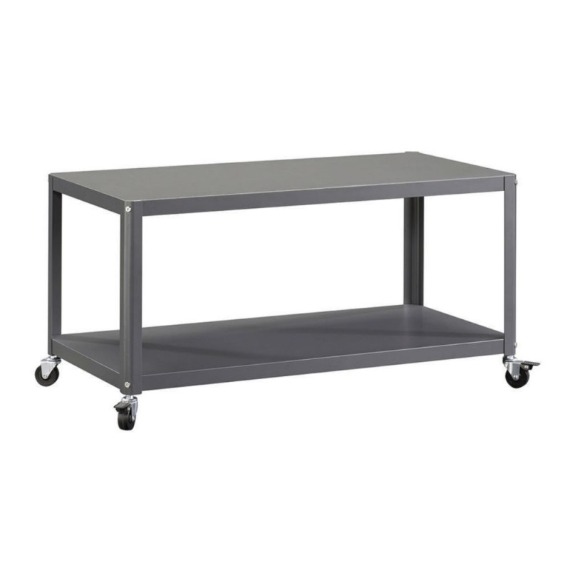 Mesa auxiliar con ruedas sauder square gris - Mesa auxiliar con ruedas ...