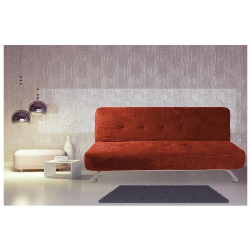 Sof cama matrimonial juventus anaranjado for Colchones para cama matrimonial