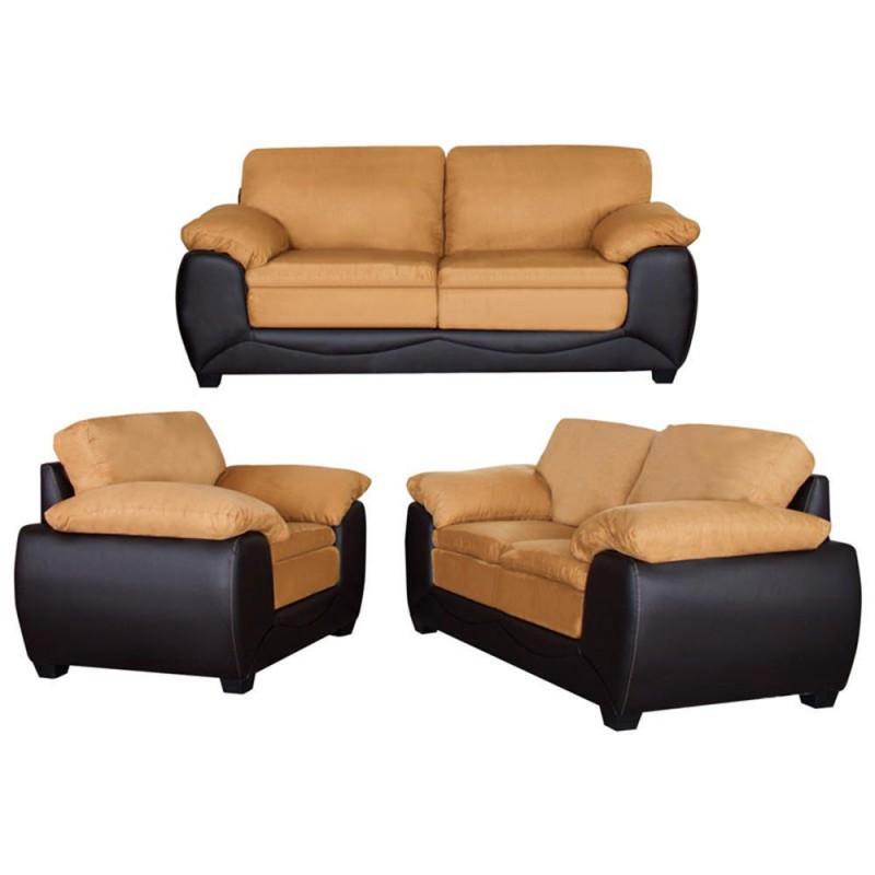 Sala hilton 3 piezas caf for Muebles de sala 3 piezas