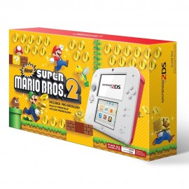 Consola Nintendo 2DS Roja + Videojuego New Super Mario Bros 2