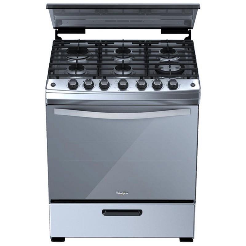 Whirlpool estufa de piso 30 wf5975s plata for Estufas de cocina de gas