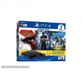 Consola PS4 Hits Bundle 500 GB  3 Videojuegos Físicos