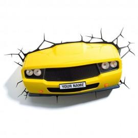Car Lámpara 3D LED Amarillo