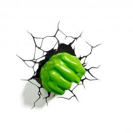 Puño Hulk 3D Lámpara