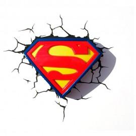 Logo de Superman Lámpara de Pared