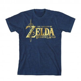 Playera Azul The Legend of Zelda Breath of the Wild con Logo Grande para Mujer