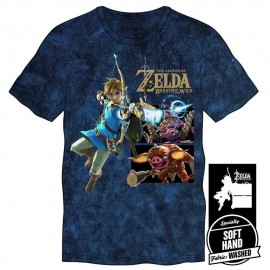 Playera Azul The Legend of Zelda Breath of the Wild Link Bokoblin Guardian Mediana