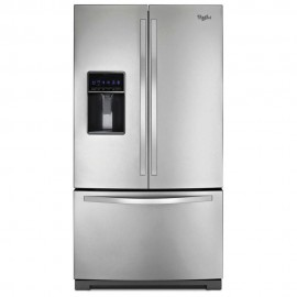 Whirlpool Refrigerador 26 pies French Door FreshFlow Acero