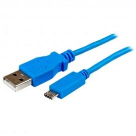 StarTech Cable Micro USB Azul de 1m - Envío Gratuito