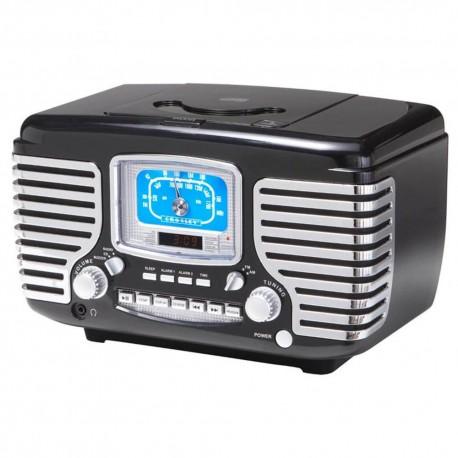 Crosley Radio Retro CR612 BK  Negro - Envío Gratuito