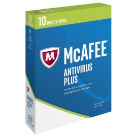 McAfee AntiVirus Plus 2017 1 año 10 Usuarios - Envío Gratuito