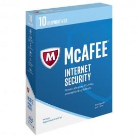 McAfee Internet Security 2017 1 año 10 Usuarios - Envío Gratuito