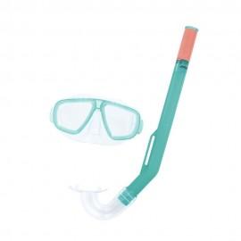 Set de Máscara Visor más Snorkel Bestway 3 a 6 Años Verde - Envío Gratuito