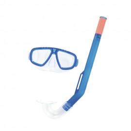 Set de Máscara Visor más Snorkel Bestway 3 a 6 Años Azul - Envío Gratuito
