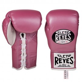 Guantes Profesionales Cleto Reyes Safetec Rosa 8 oz